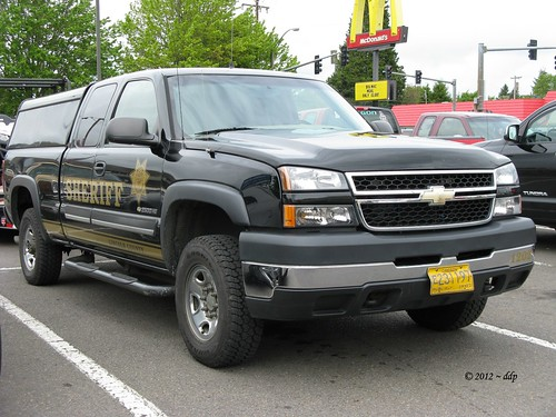************************************************ Lincoln County, Oregon Sheriff ~ Chevy 2500HD in Black & Gold | by Pixel Packing Mama ~ 26 Million Views
