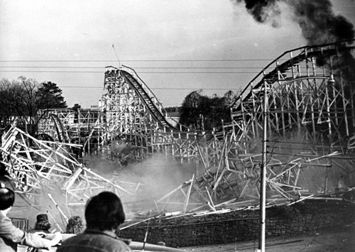 Roller Coaster Demolition Part Of The Roller Coaster At