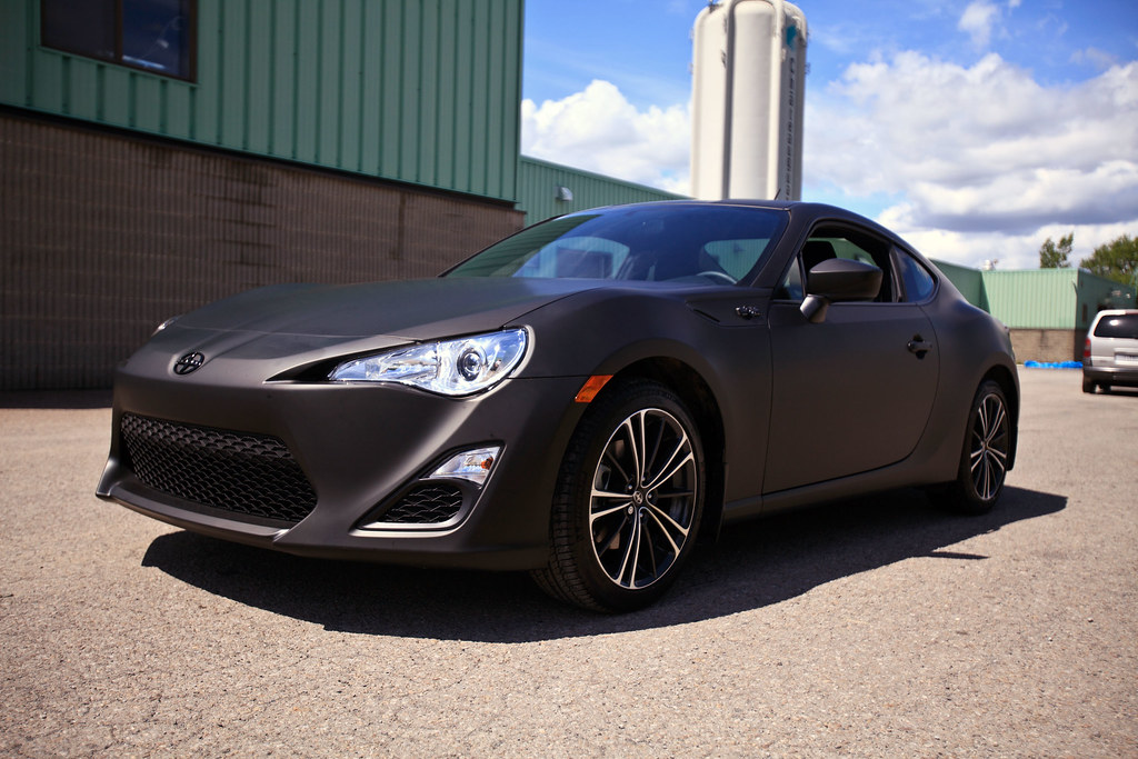 Scion Frs Wrap Matte Black Scion Frs Wrap Matte