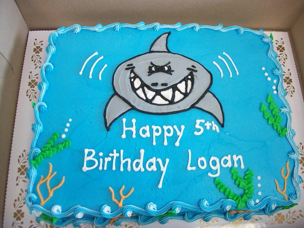 Birthday Cake With Photo Upload Free : Shark Birthday Cake Linda s Kitchen Flickr