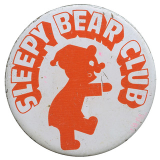 Sleepy Bear Club Pinback Button | by Neato Coolville