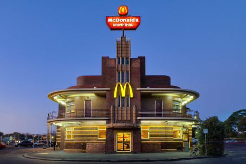 Art Deco McDonalds in Blue Hour and HDR | by tim.mcrae