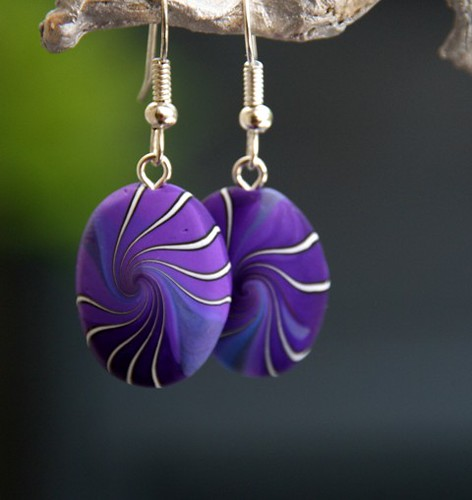 Swirl earrings | by Beadelz polymer crea's
