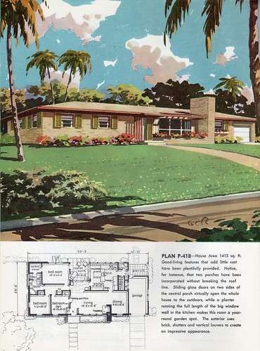 1960 ethan flickr 1960 ranch style home plans 1960s ranch style house plans