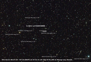 C/2011 L4 PANSTARRS August 21, 2012 with FSQ-106ED and Reducer QE 0.73x | by hirocun