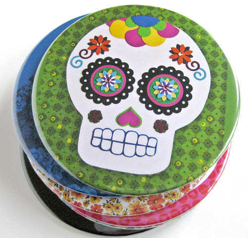 Sugar Skull Collage coasters | by Meow Kapow!