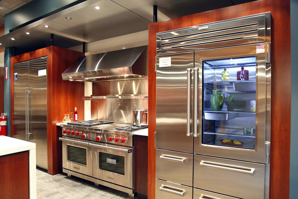 Sub zero and wolf appliances living kitchen display in nj for High end wall ovens