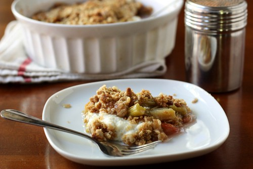 Rhubarb Ricotta Crisp | by Completely Delicious
