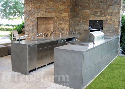 concrete countertop outdoor kitchen | This is a concrete cou… | Flickr
