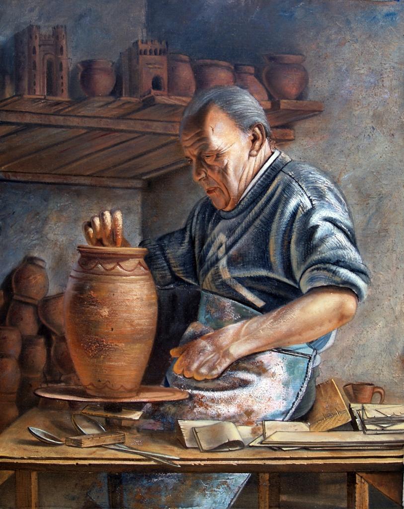 Alfarero de coca 50x40 ricardo renedo es un pintor de la e flickr - Busco trabajo de pintor en madrid ...