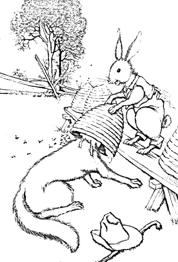 Brer Rabbit Brer Fox And The Bee Hives Brer Rabbit Colori Flickr - Brer-rabbit-coloring-pages