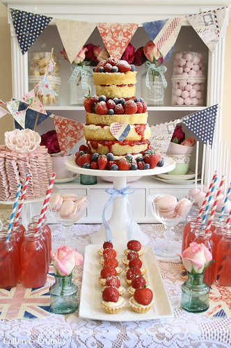 Jubilee cake desert table | by Cotton and Crumbs