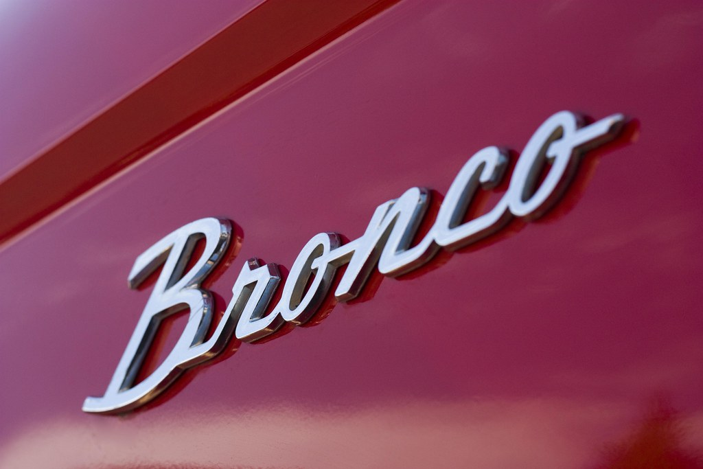 New Ford Bronco >> Bronco | Emblem on a nicely restored 1971 Ford Bronco. This … | Flickr