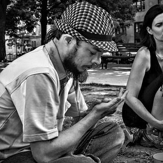 """Huckleberry Finn, The Artist"", Mobile Art Committee Meeting, Occupy DC, McPherson Square, Washington, DC 