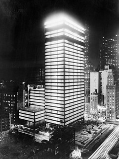 Seagram Building at Night | by poster.us.com