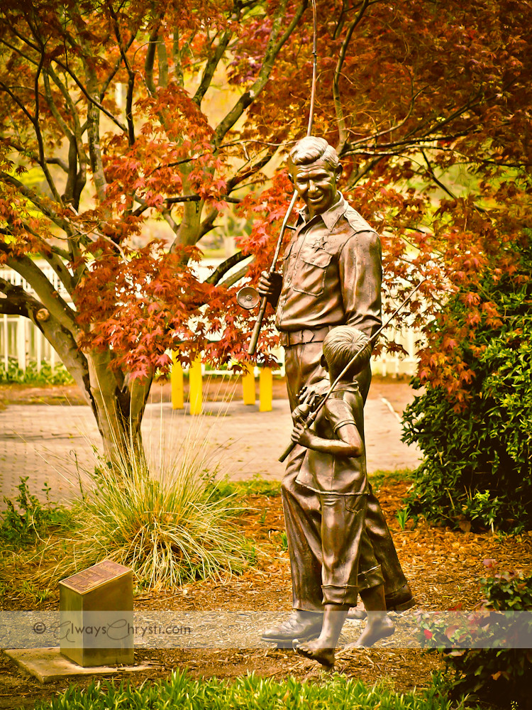 Andy Amp Opie Monument Statue Rip Andy Griffith Thanks