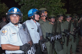 US Park police in full riot gear | by juliacreinhart