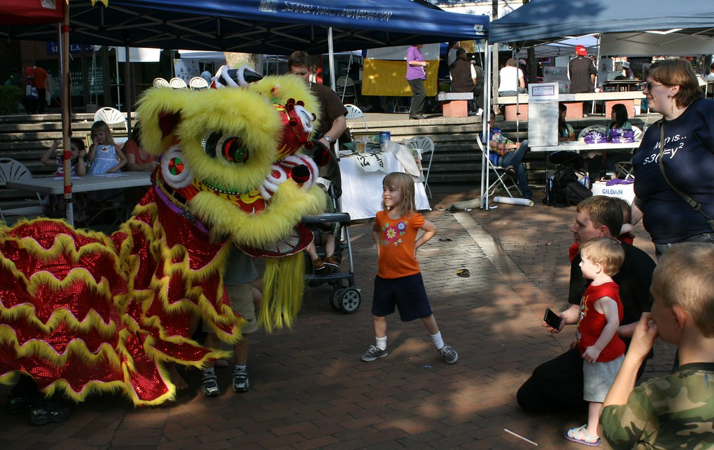 The Dragon Faceoff  A Chinese Dragon Puppeteer was ...