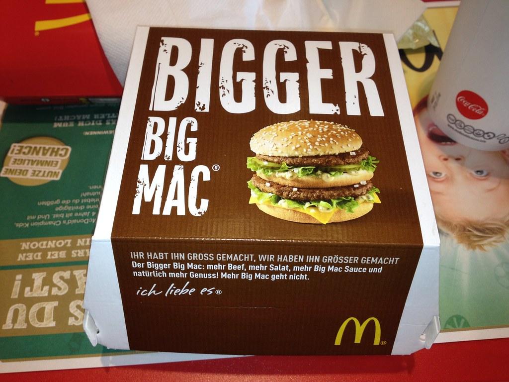 Mcdonald S Bigger Big Mac A Bigger Version Of The Big
