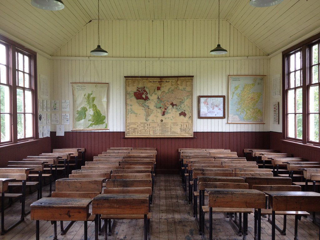 Old School Classroom In Highland Folk Museum Newtonmore