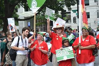 Nurses Join Rally to Ends AIDS With a Robin Hood Tax | by National Nurses United