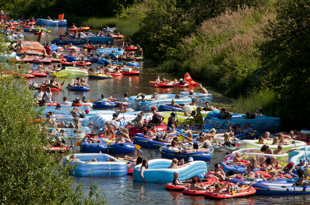 Beer Floating Down The River Kaljakellunta 2012