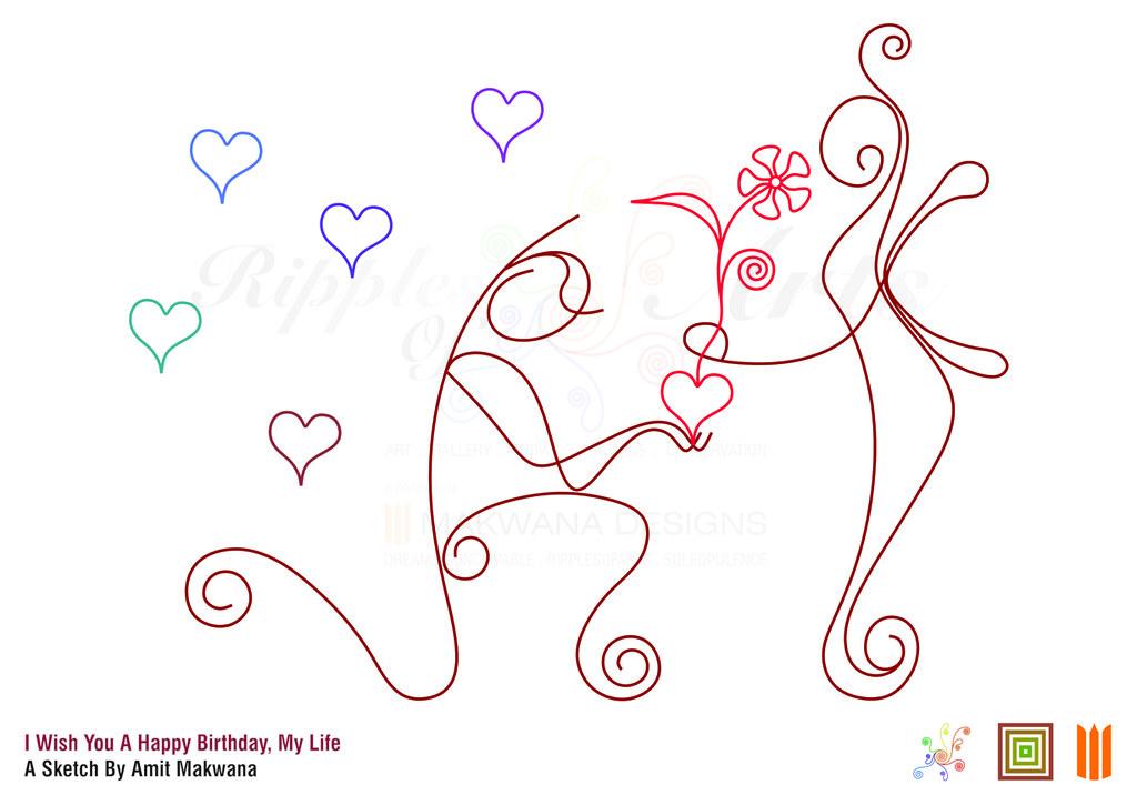 I Wish You A Happy Birthday A Sketch For Blog | I Wish You ...
