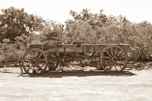 Wagon Mesilla, New Mexico (sepia) | by davev704