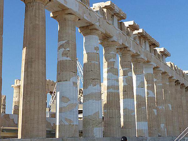 les colonnes du Parthénon