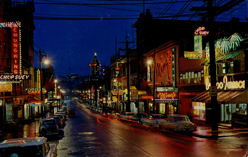 Postcard Vancouver S Chinatown 1960 Quot Chinatown At