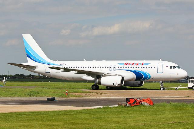 EI-ELN Yamal A320 at Southend EGMC