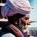 Portrait of an elderly rajasthani man. Jodhpur, Rajasthan, India