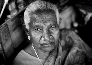 Old woman in Pondicherry, India | by Eric Lafforgue