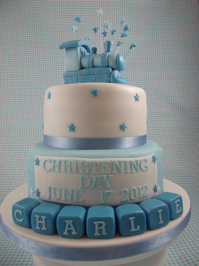 Baby boys Christening cake Sweet Treats cakes by Allison Flickr