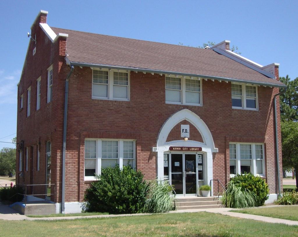 Kansas phillips county kirwin -  Courthouselover Kirwin Kansas City Hall And Library By Courthouselover