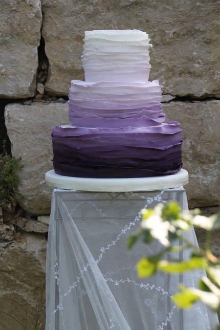 V Hochzeitstorte Ombrestyle Lila 2 Eine Grosse Auswahl An H Flickr