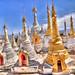 Shan Stupas at Thaung Tho Village V2