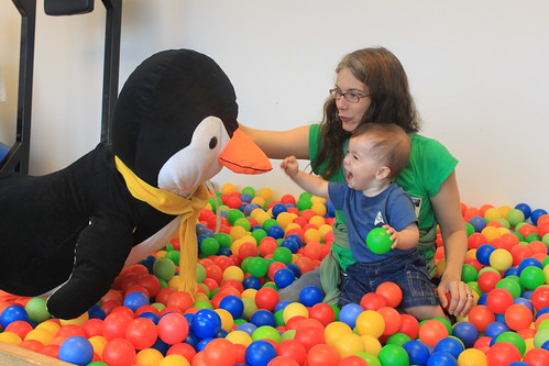 New York - Google - Penguin, Vicky, Sagan in Ballpit 1a (By Ryan Somma) | by Vicky TGAW