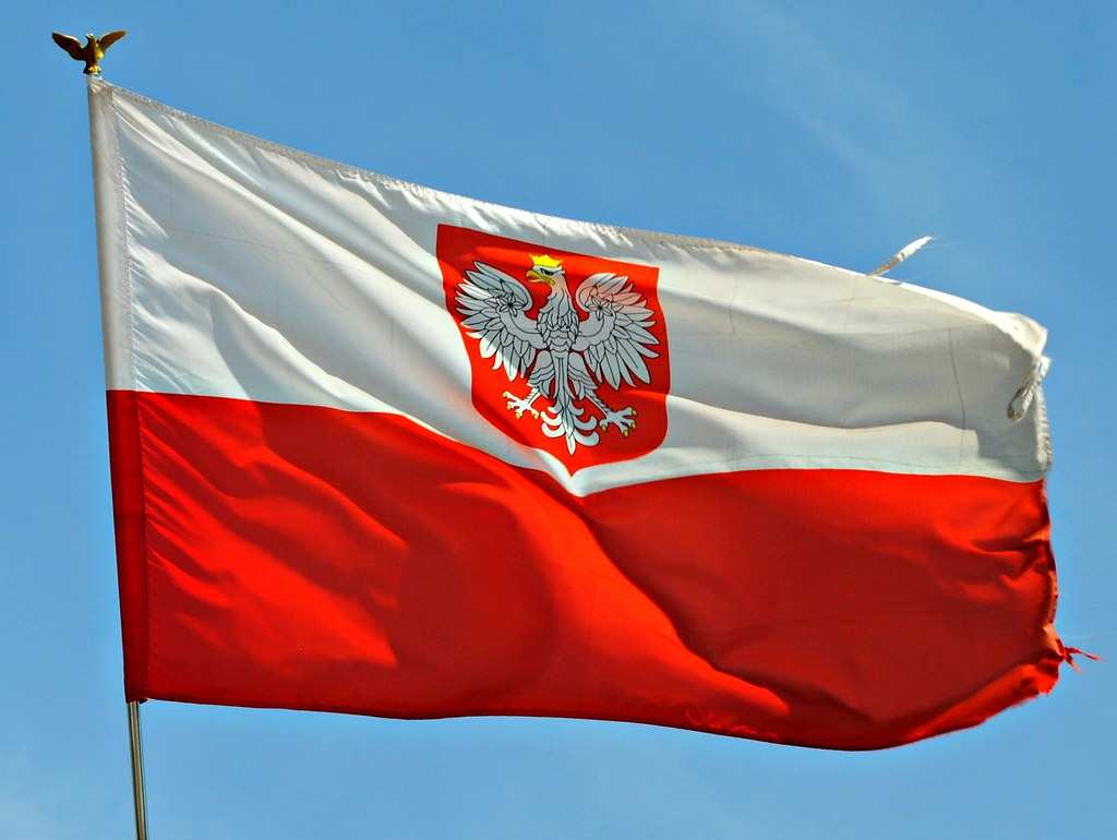 one of many polish flags hovering over chicago chicago ha u2026 flickr