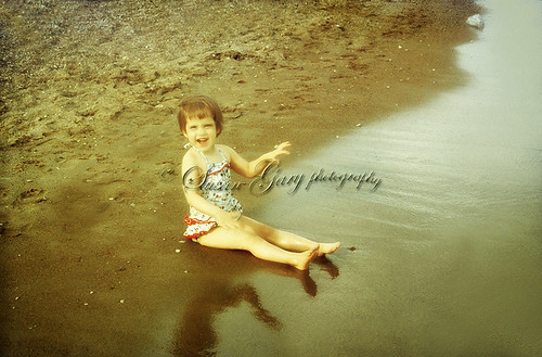 Vintage 1950s Little Girl on Beach | by SusanGaryPhotography