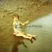 Vintage 1950s Little Girl on Beach