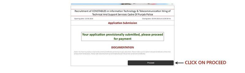Punjab Police Constable Application Form 2016   Apply Online
