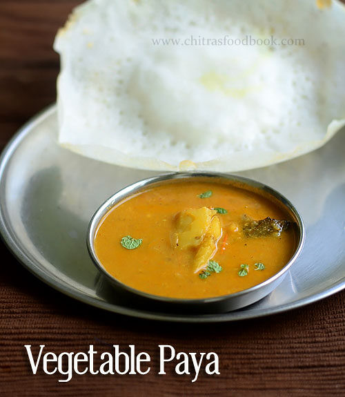 Vegetable paya
