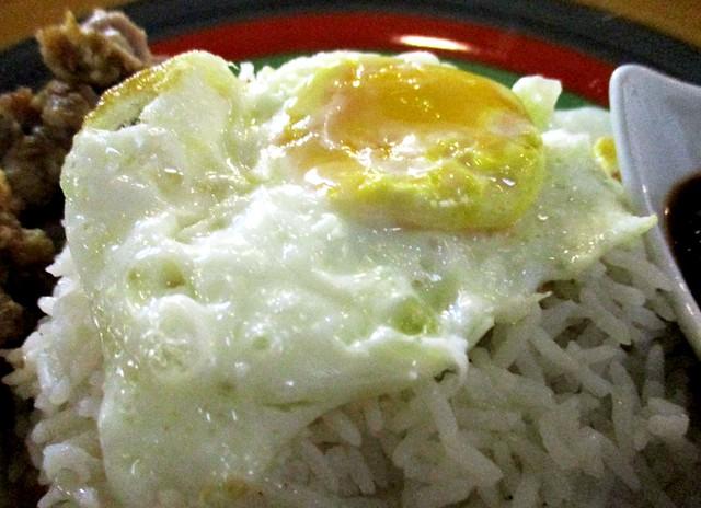 Eco Delight nasi lemak - fried egg