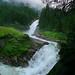 Krimml Waterfalls as a roaring glacial stream