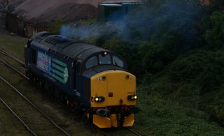 DRS Beast 37602 changes points in Middlesbrough Goods - Best Viewed by Pressing L | by Bolckow