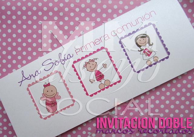 Invitaciones dobles primera comuni n ni a exterior for Fotos comunion exterior nina
