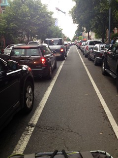 traffic. but not in bike lane. | by calitexican