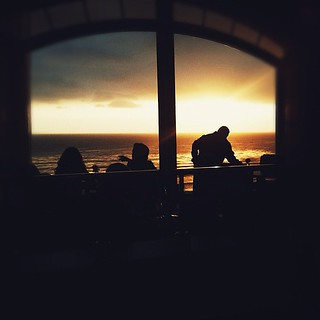 the sun makes an appearance and an exit at dinner tonight  #tttritzlaguna | by Lindsey Garrett
