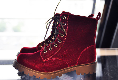 H&M Showroom F/W 2012/13 velvet boots | by Hearabouts